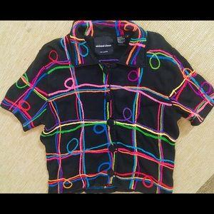 Michael Simon 80's Vintage Ugly Cardigan Sweater